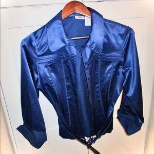 Worthington Royal Blue blouse. Size Medium.